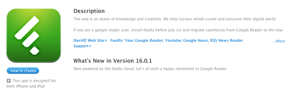 feedly app 16.0.1 update